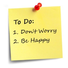Don't worry be happy post it